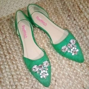 StyleWatch For JUSTFAB Rhinestone Loafer Flats